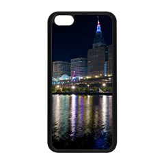 Cleveland Building City By Night Apple Iphone 5c Seamless Case (black)