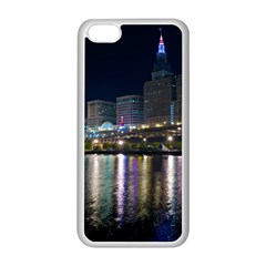 Cleveland Building City By Night Apple Iphone 5c Seamless Case (white)