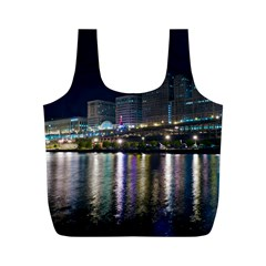 Cleveland Building City By Night Full Print Recycle Bags (m)
