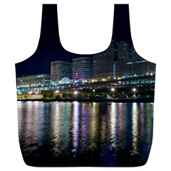 Cleveland Building City By Night Full Print Recycle Bags (l)