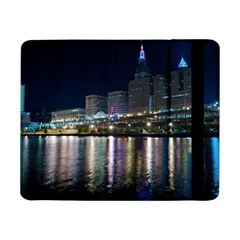 Cleveland Building City By Night Samsung Galaxy Tab Pro 8 4  Flip Case