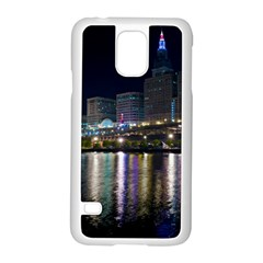 Cleveland Building City By Night Samsung Galaxy S5 Case (white)