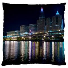 Cleveland Building City By Night Standard Flano Cushion Case (one Side)