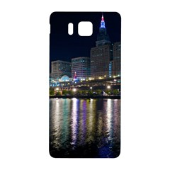 Cleveland Building City By Night Samsung Galaxy Alpha Hardshell Back Case