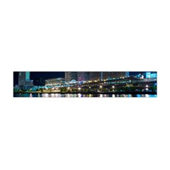 Cleveland Building City By Night Flano Scarf (Mini)