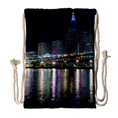 Cleveland Building City By Night Drawstring Bag (Large)