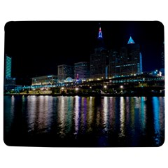 Cleveland Building City By Night Jigsaw Puzzle Photo Stand (rectangular)