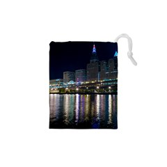 Cleveland Building City By Night Drawstring Pouches (xs)