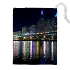 Cleveland Building City By Night Drawstring Pouches (xxl)