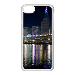 Cleveland Building City By Night Apple Iphone 7 Seamless Case (white)