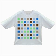 Colorful Green Background Tile Pattern Infant/Toddler T-Shirts