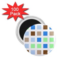 Colorful Green Background Tile Pattern 1 75  Magnets (100 Pack)