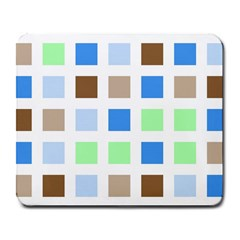 Colorful Green Background Tile Pattern Large Mousepads