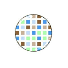 Colorful Green Background Tile Pattern Hat Clip Ball Marker