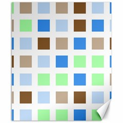 Colorful Green Background Tile Pattern Canvas 8  X 10