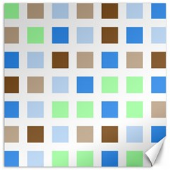 Colorful Green Background Tile Pattern Canvas 20  X 20