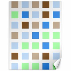 Colorful Green Background Tile Pattern Canvas 18  X 24