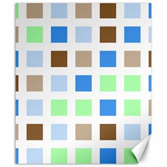 Colorful Green Background Tile Pattern Canvas 20  X 24