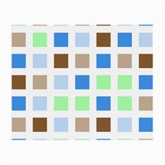 Colorful Green Background Tile Pattern Small Glasses Cloth (2 Side)