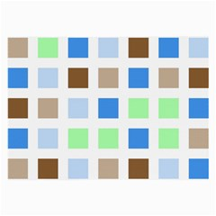 Colorful Green Background Tile Pattern Large Glasses Cloth