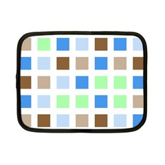 Colorful Green Background Tile Pattern Netbook Case (Small)