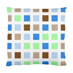 Colorful Green Background Tile Pattern Standard Cushion Case (two Sides)