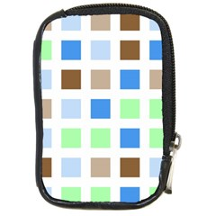 Colorful Green Background Tile Pattern Compact Camera Cases