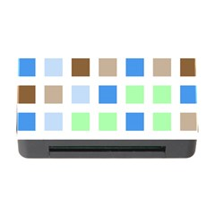 Colorful Green Background Tile Pattern Memory Card Reader With Cf