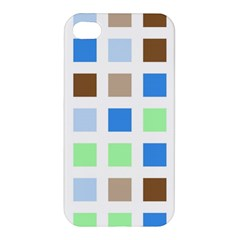Colorful Green Background Tile Pattern Apple Iphone 4/4s Hardshell Case