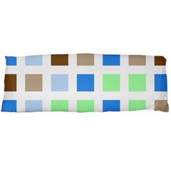 Colorful Green Background Tile Pattern Body Pillow Case Dakimakura (two Sides)