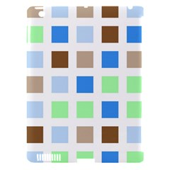 Colorful Green Background Tile Pattern Apple Ipad 3/4 Hardshell Case (compatible With Smart Cover)