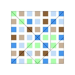 Colorful Green Background Tile Pattern Acrylic Tangram Puzzle (4  X 4 )