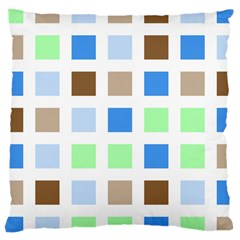Colorful Green Background Tile Pattern Large Cushion Case (two Sides)