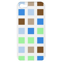 Colorful Green Background Tile Pattern Apple Iphone 5 Hardshell Case