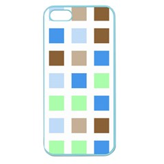 Colorful Green Background Tile Pattern Apple Seamless Iphone 5 Case (color)
