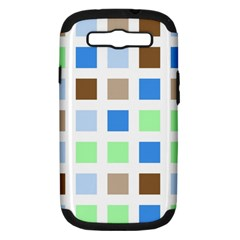Colorful Green Background Tile Pattern Samsung Galaxy S Iii Hardshell Case (pc+silicone)