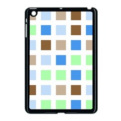 Colorful Green Background Tile Pattern Apple Ipad Mini Case (black)