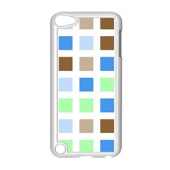Colorful Green Background Tile Pattern Apple Ipod Touch 5 Case (white)