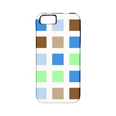Colorful Green Background Tile Pattern Apple Iphone 5 Classic Hardshell Case (pc+silicone)