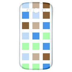 Colorful Green Background Tile Pattern Samsung Galaxy S3 S Iii Classic Hardshell Back Case