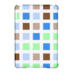 Colorful Green Background Tile Pattern Apple Ipad Mini Hardshell Case (compatible With Smart Cover)