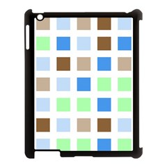 Colorful Green Background Tile Pattern Apple Ipad 3/4 Case (black)