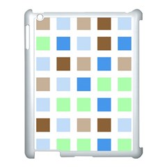 Colorful Green Background Tile Pattern Apple Ipad 3/4 Case (white)
