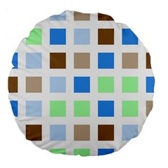 Colorful Green Background Tile Pattern Large 18  Premium Round Cushions