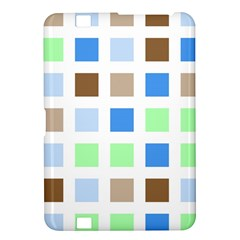 Colorful Green Background Tile Pattern Kindle Fire Hd 8 9