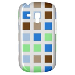Colorful Green Background Tile Pattern Galaxy S3 Mini