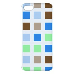 Colorful Green Background Tile Pattern Apple Iphone 5 Premium Hardshell Case
