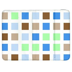 Colorful Green Background Tile Pattern Samsung Galaxy Tab 7  P1000 Flip Case