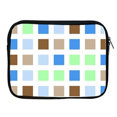 Colorful Green Background Tile Pattern Apple Ipad 2/3/4 Zipper Cases