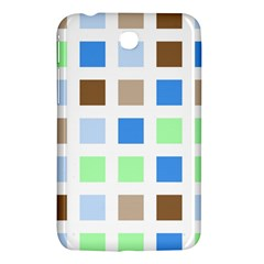 Colorful Green Background Tile Pattern Samsung Galaxy Tab 3 (7 ) P3200 Hardshell Case
